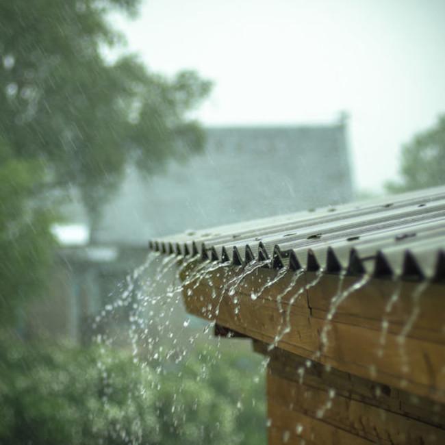Rain water roof 123rf