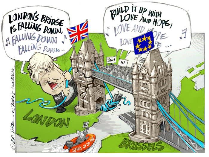 Resultado de imagen de brexit cartoon
