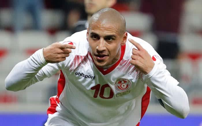 Tunisia's Wahbi Khazri celebrates scoring their first goal in an international friendly against Costa Rica on 1 June 2018. Picture: Reuters.