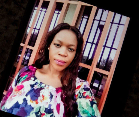 25 August 2021: A photograph of Nonhle Aphane that her sister Vuyokazi Mathebula keeps on her cellphone. Picture: New Frame.