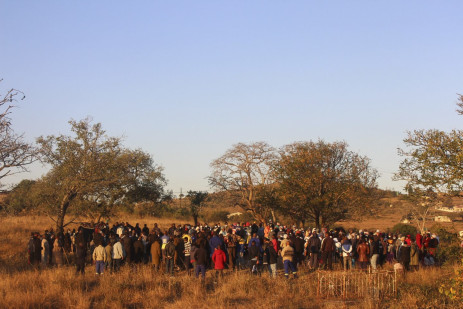 4 July 2021: Residents at Ngculwini outside Manzini bury Vusumuzi Bhembe, who was shot and killed by eSwatini's armed forces. Picture: Magnificent Mndebele/New Frame