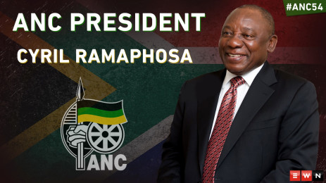 Cyril Ramaphosa has been elected as new ANC president.