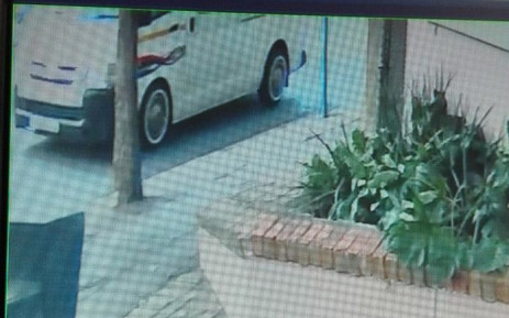 A screengrab of CCTV footage of a minibus taxi in which a woman says she was sexually assaulted by three men. Picture: Supplied.