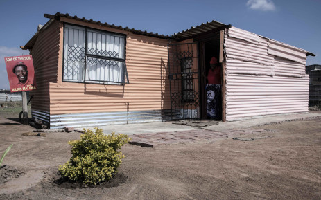 The home of Tebogo Mantsena, a resident of the informal settlement Juju valley. Picture: Abigail Javier/EWN