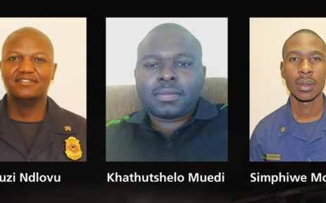 Mduduzi Ndlovu, Khathutshelo Muedi and Simphiwe Moropana died while battling a fire at a Johannesburg building. Picture: @CityofJoburgEMS/Twitter.