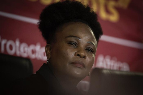 Public Protector Advocate Busisiwe Mkhwebane delivering her findings against President Cyril Ramaphosa on 19 July 2019. Picture: Sethembiso Zulu/EWN
