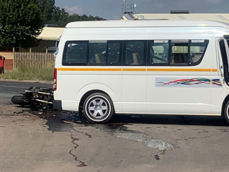 The scene of the accident on Old Pretoria Road in Midrand on 17 February 2020. Picture: Gauteng Education Department