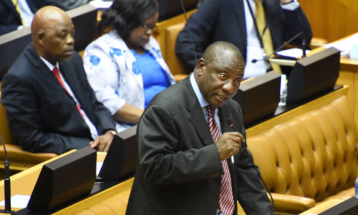Deputy President Cyril Ramaphosa responding to questions in National Assembly, Parliament, Cape Town,  on 05 November 2014. Picture: GCIS.
