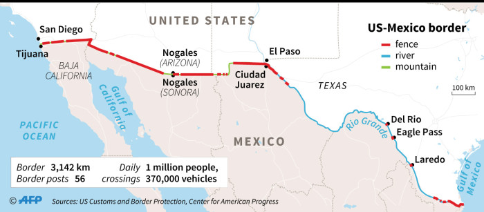 Map Of The Us Mexico Border - Us-and-mexico-map