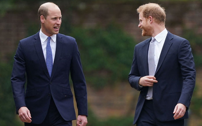 Britain's Prince William, Duke of Cambridge, (L) and Britain's Prince Harry, Duke of Sussex, arrive for the unveiling of a statue of their mother, Princess Diana at The Sunken Garden in Kensington Palace, London on July 1, 2021, which would have been her 60th birthday. Picture: Yui Mok/POOL/AFP