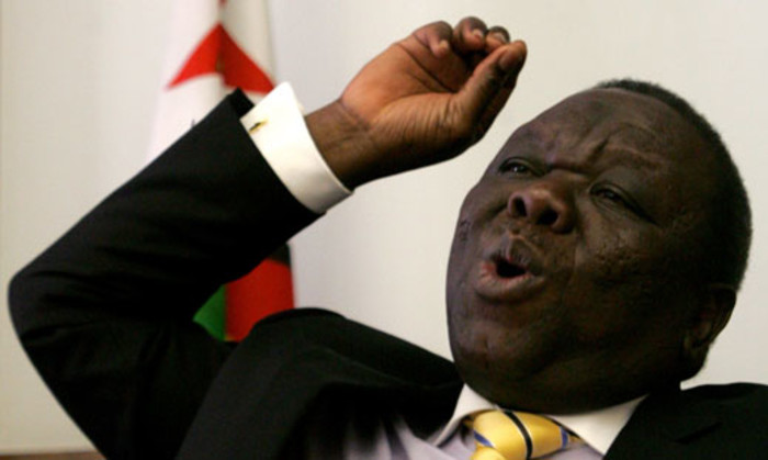 Zimbabwe Prime Minister and MDC leader Morgan Tsvangirai pictured on March 15, 2013 talking to church leaders about upcoming elections. Picture: AFP