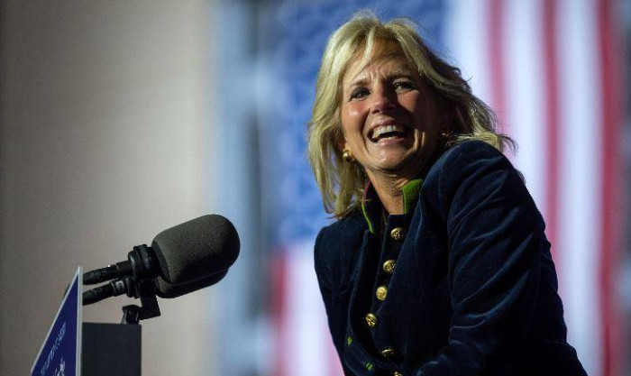 FILE: Jill Biden during a drive-in rally at Heinz Field in Pittsburgh, Pennsylvania, on 2 November 2020. Picture: Jim Watson/AFP.