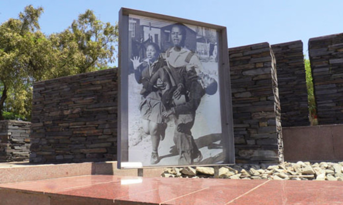 FILE: The iconic photograph taken of Hector Pieterson, who was killed during the Soweto uprising in 1976, displayed at the Hector Pieterson Museum in Soweto. Picture: Reinart Toerien/Eyewitness News