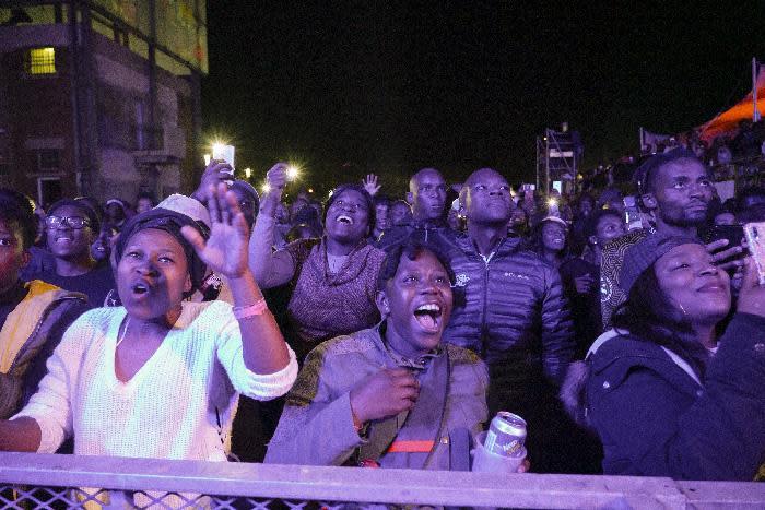 Basha Uhuru concert goers at Basha Uhuru's 2019 Freedom Festival. Picture: Basha Uhuru
