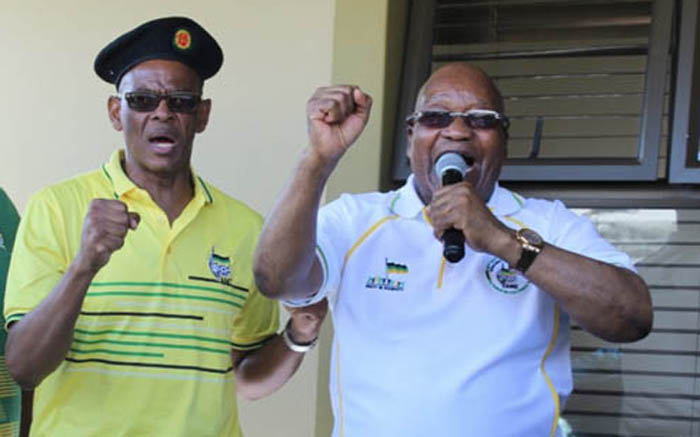 FILE: Former President Jacob Zuma joined ANC secretary-general Ace Magashule on the campaign trail in KwaZulu-Natal in 2019. Picture: @MYANC/Twitter.