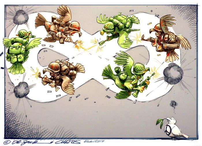 The Infinite Loop of War
