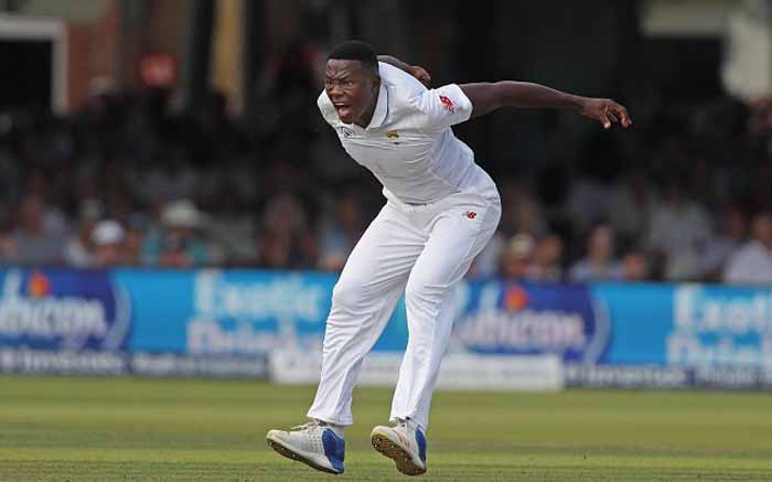 FILE: South Africa's Kagiso Rabada celebrates a wicket. Picture: @OfficialCSA/Twitter