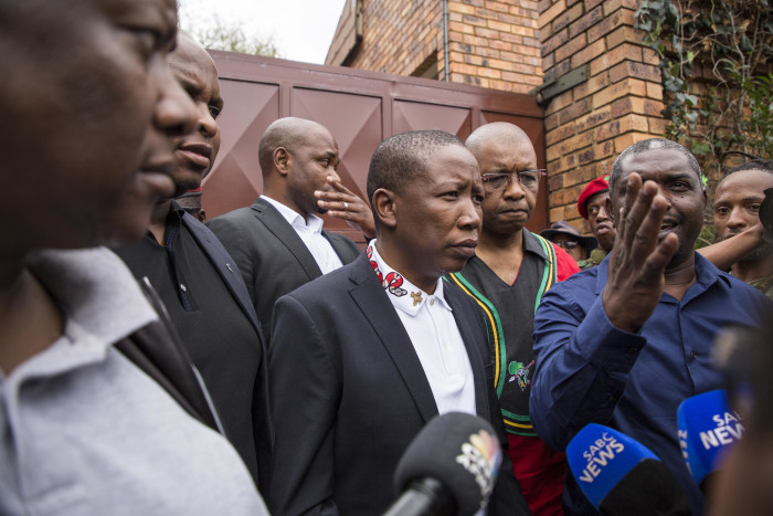 EFF leader Julius Malema paid a visit to the home of the late Winnie Madikizela-Mandela on 3 April 2018. Picture: Ihsaan Haffejee/EWN