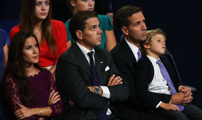 FILE: (R-L) Attorney General of Delaware Beau Biden, Hunter Biden, and Ashley Biden, watch their father Democratic vice presidential candidate, US Vice President Joe Biden speaks on stage during the final day of the Democratic National Convention at Time Warner Cable Arena on 6 September 2012 in Charlotte, North Carolina. Picture: Streeter Lecka/Getty Images/AFP