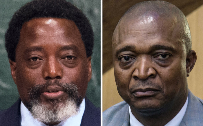 Outgoing Democratic Republic of Congo President Joseph Kabila (left) has chosen former interior minister Emmanuel Ramazani Shadary (right), a Kabila loyalist, to be his successor in upcoming elections. Picture: AFP.