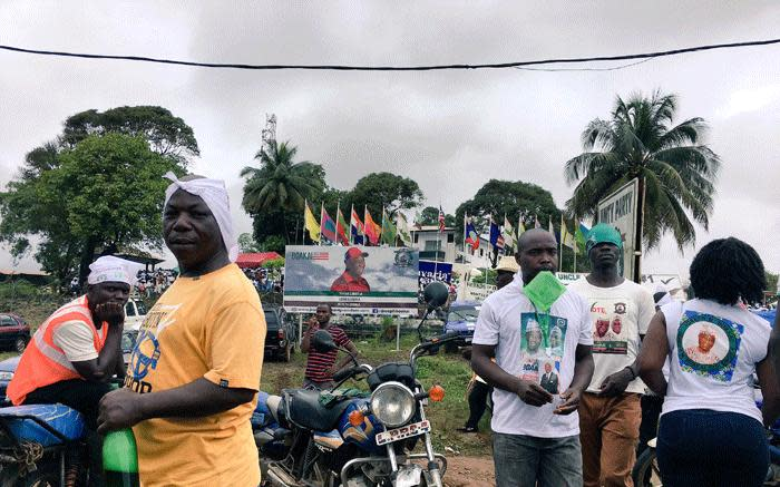 Several Liberians took part on rallies ahead of the vote on Tuesday, 10 October, when they will elect a new president. Picture: Leanne de Bassompierre/EWN.
