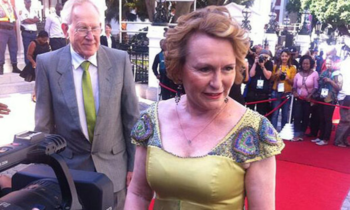 Western Cape Premier Helen Zille arrives in Parliament for the State of the Nation Address. Picture: Siyabonga Sesant/EWN