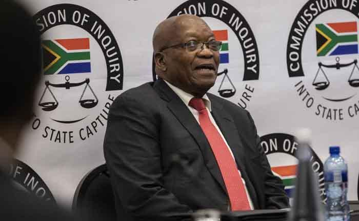 Former President Jacob Zuma gives testimony at the Zondo Commission of Inquiry on 15 July 2019. Picture: Abigail Javier/EWN