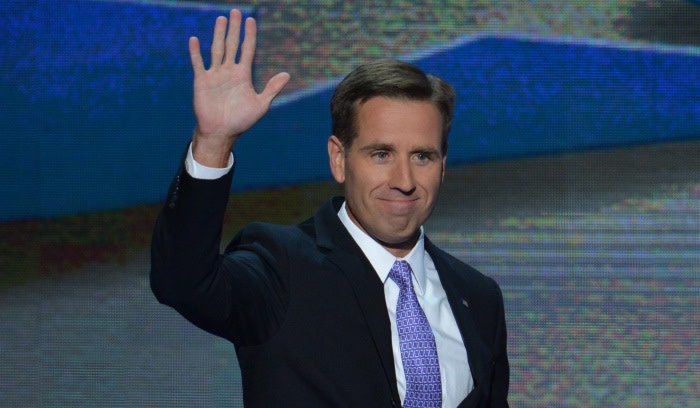FILE: Former Attorney General of Delaware and son of Vice President Joe Biden, Beau Biden, waves to the audience at the Time Warner Cable Arena in Charlotte, North Carolina, on September 6, 2012. Picture: AFP.