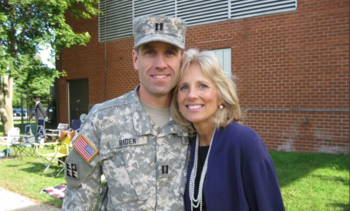 Beau and Jill Biden. Picture: Twitter/@DrBiden
