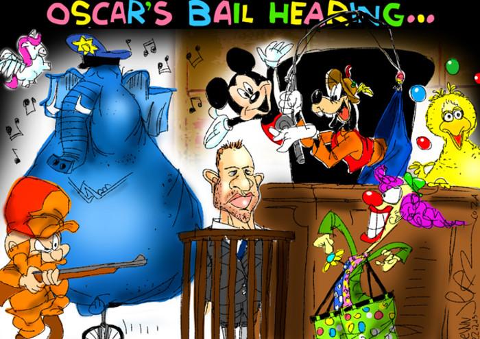 Oscar's Bail Hearing - basically, it's a circus.