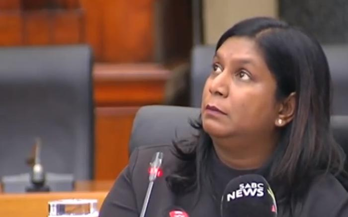 A video screengrab of advocate Andrea Johnson during an interview for the position of prosecutions boss at the Union Buildings in Pretoria on 15 November 2018. Picture: YouTube