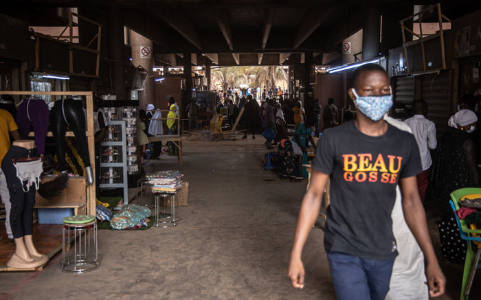 Traders open their shops in Rood Woko's great market in Ouagadougou, Burkina Faso, on 20 April 2020, after the market was closed since 25 March 2020, as a preventive measure against the spread of the COVID-19 coronavirus. Picture: AFP