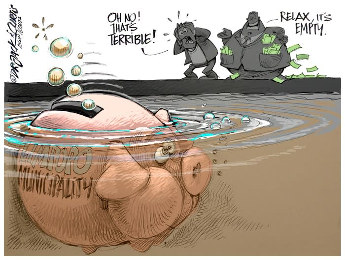 CARTOON: Dirty Audits: Taking Home the Bacon