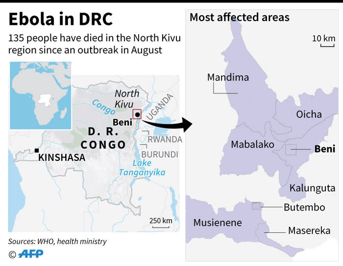 Mapping Ebola Outbreak In Drc
