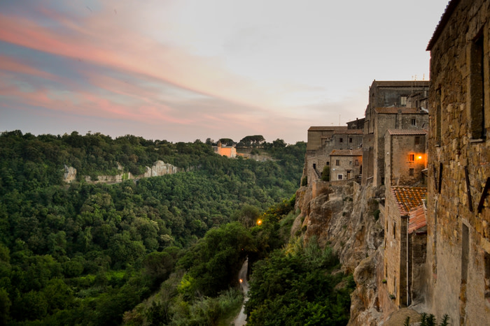 Pitigliano offers sweeping views of the Maremma's Fiora Valley. Picture: Camilla Bath