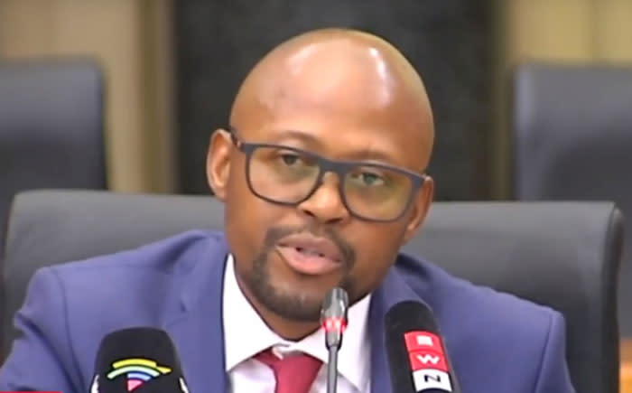 A video screengrab of Advocate Simphiwe Mlotshwa being interviewed for the NDPP position on 16 November 2018 at the Union Buildings in Pretoria.