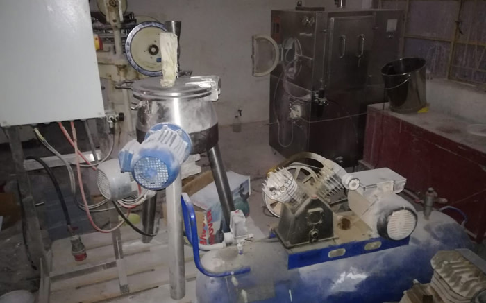 The police's canine unit on 21 March 2019 discovered a multi-million rand drug manufacturing plant in Hammanskraal, north of Pretoria. Picture: Supplied