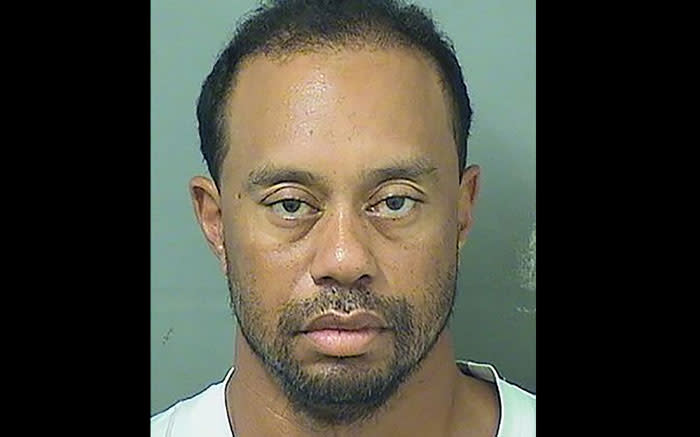 This booking photo obtained courtesy of the Palm Beach County Sheriff's Office show Tiger Woods. Golf superstar Tiger Woods was arrested 29 May 2017 in Florida on suspicion of driving under the influence of alcohol or drugs, according to records from the Palm Beach County Sheriff's Office. Picture: AFP