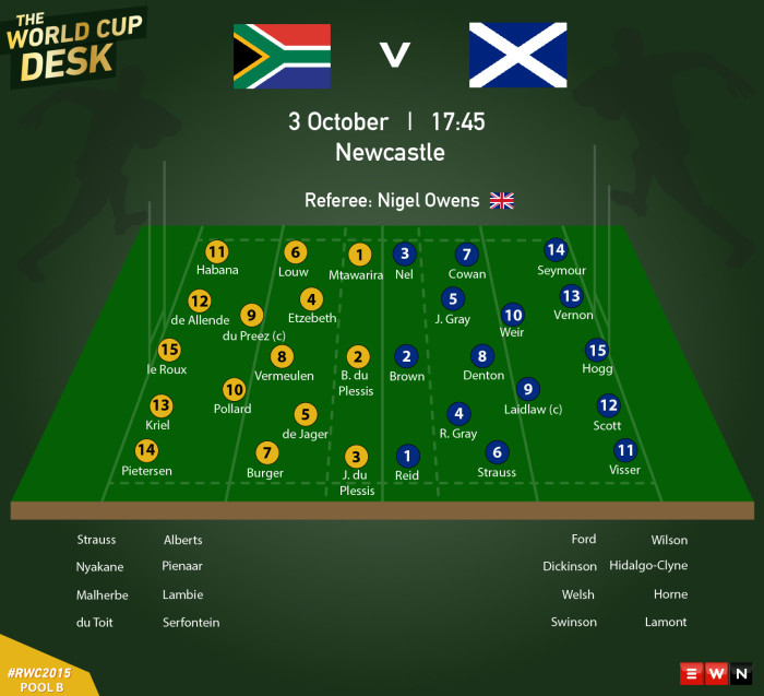 South Africa takes on Scotland on Saturday.  Picture: EWN