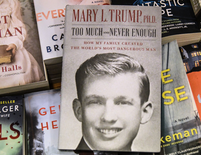 In this file photo illustration taken on 13 July 2020, Mary Trump's new book about US President Donald Trump is on display at a book store on 14 July 2020 in the Brooklyn borough in New York City. Picture: AFP