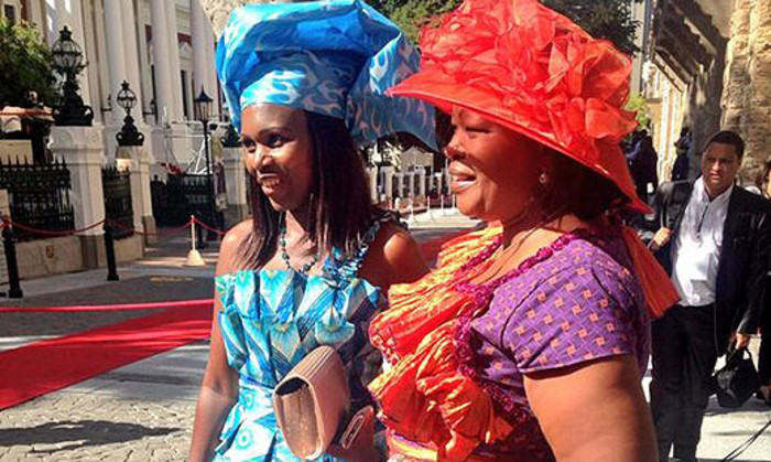 Some bold fashion statements on the SONA red carpet on 13 February 2014. Picture: Rahima Essop/EWN