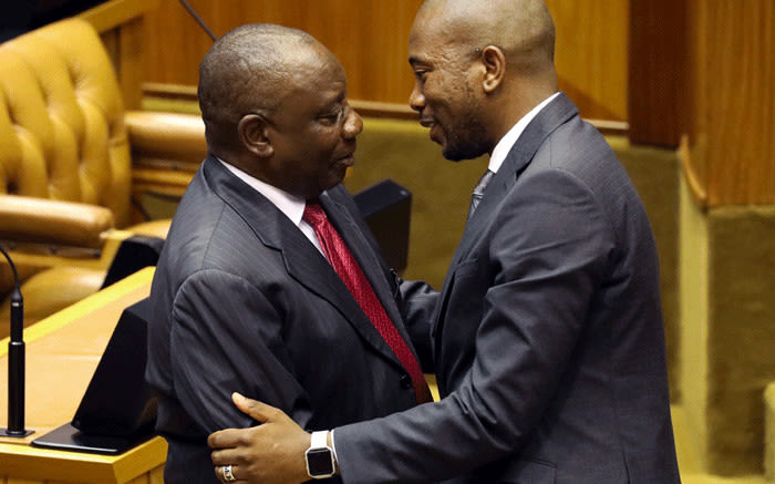 Image result for maimane and malema