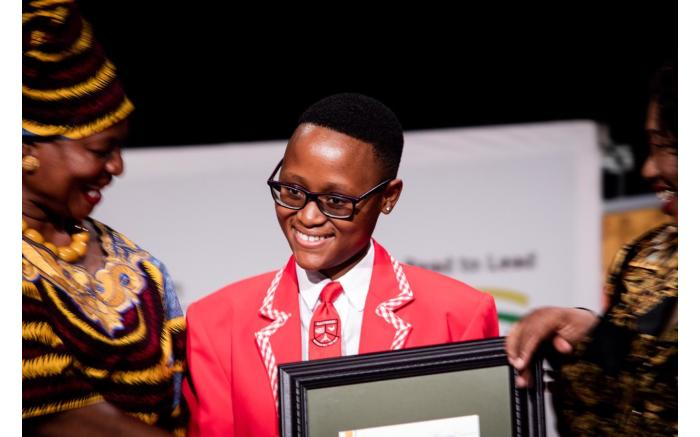 The top learner in quintile 3 Tlotlo Phemelo Lekgoba from the Northern Cape.