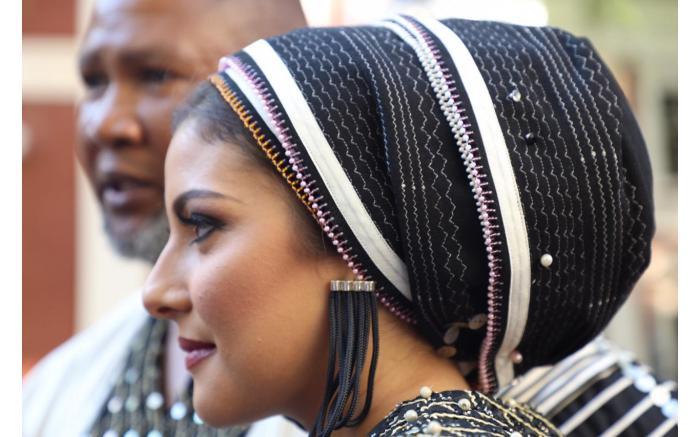 MAKING HEADLINES: Mandla Mandela's wife Raabia. Kayleen Morgan/EWN