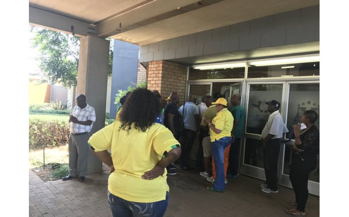 Branch members from Mpumalanga and North West are at UJ Soweto to lodge a dispute about delegates being signed under their lists.