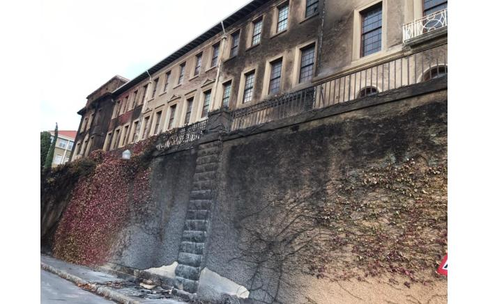 A close-up of a wall damaged by fire. Picture: Lizell Persens/Eyewitness News