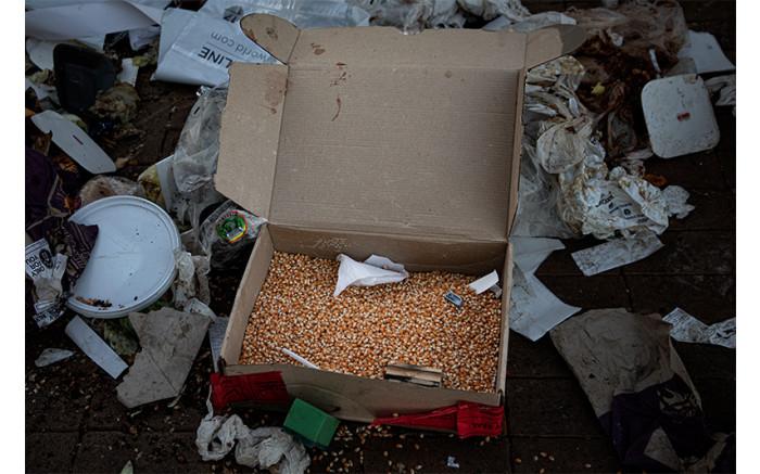 A box of popcorn seeds. Picture: Xanderleigh Dookey Makhaza/Eyewitness News