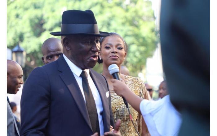 THE REAL (FASHION) POLICE: Bheki Cele and his wife Thembeka Ngcobo. Kayleen Morgan/EWN