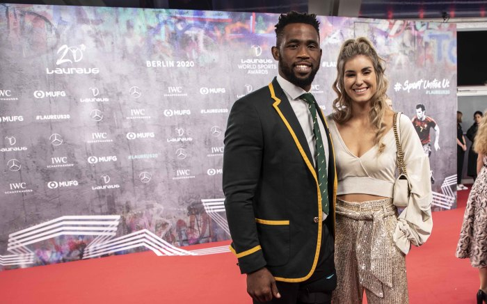 Siya and Rachel Kolisi on the red carpet of the Laureus World Sports Awards 2020 in Berlin, Germany. Picture: Abigail Javier/EWN