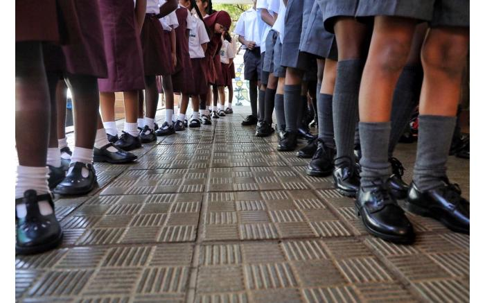 The first day of school for Grade 1s at Northcliff Primary School.